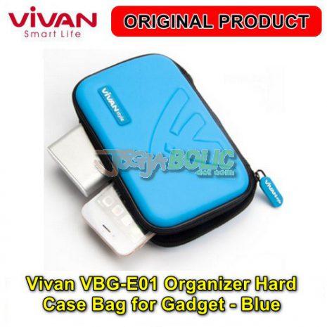 Vivan VBG-E01 Organizer Hard Case Bag for Digital Gadget – Blue 02