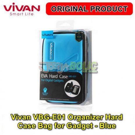 Vivan VBG-E01 Organizer Hard Case Bag for Digital Gadget – Blue 03