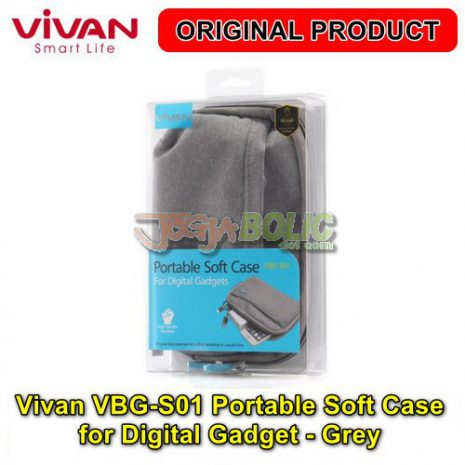 Vivan VBG-S01 Portable Soft Case for Digital Gadget – Grey 04