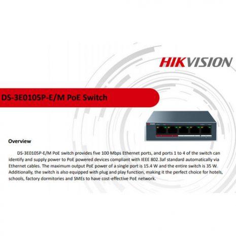 HikVision DS-3E0105P-E-M 01