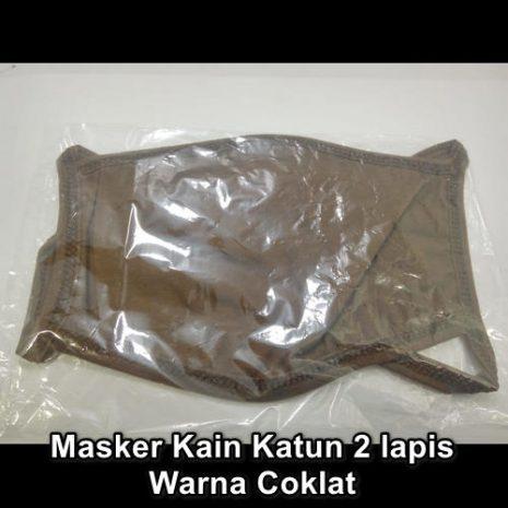Masker Kain 2ply coklat