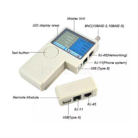 Remote RJ11 RJ45 USB BNC LAN Network Cable Tester Tracker Detector 01