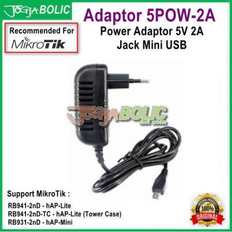 Adaptor 5POW-2A 5V 2A Jack Mini USB for MikroTik aa