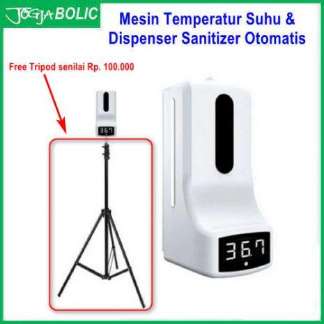 Mesin Temperatur Suhu & Dispenser Sanitizer Otomatis d