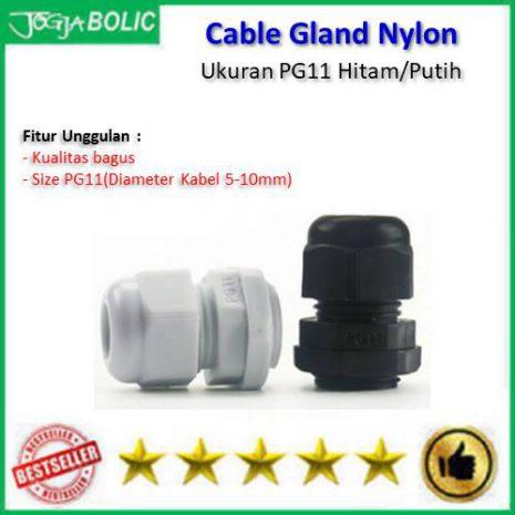 Cable Gland PG11 Hitam-Putih a