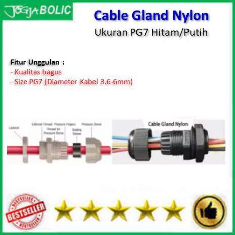 Cable Gland PG7 Hitam-Putih b