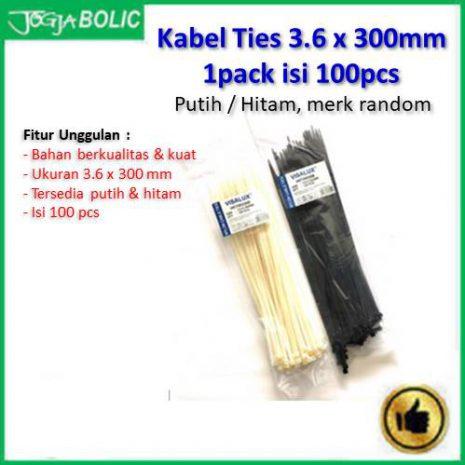 Kabel Ties 3.6 x 300mm isi 100pcs