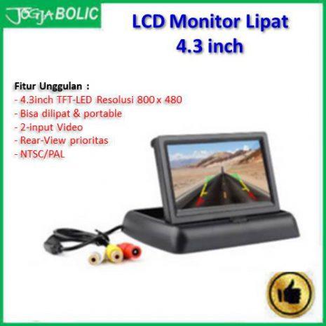 LCD Monitor 4.3 inchi model lipat slim a
