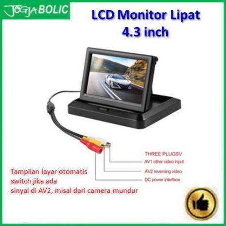 LCD Monitor 4.3 inchi model lipat slim c