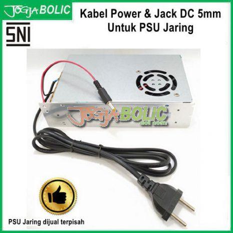 Kabel Power dan Jack DC 5mm Untuk PSU Jaring aa