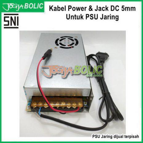Kabel Power dan Jack DC 5mm Untuk PSU Jaring bb