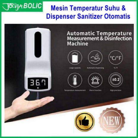 Mesin Temperatur Suhu & Dispenser Sanitizer Otomatis a